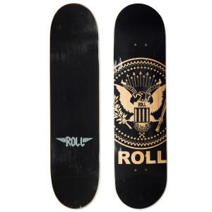 Black Finish Roll Skateboard Deck