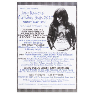 Joey Ramone 2017 Birthday Bash Poster