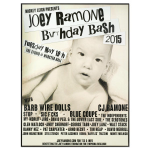 Joey Ramone Birthday Bash 2015 Poster