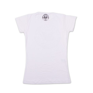 Womens cut up white tee