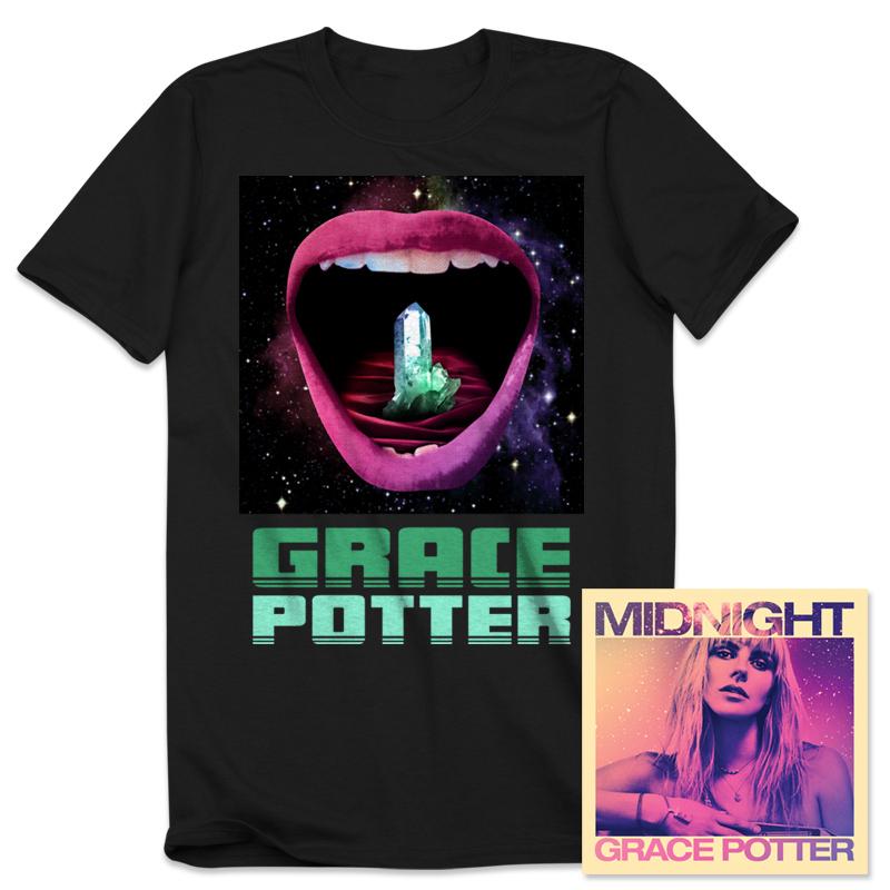 Grace Potter - Midnight CD/T-Shirt Bundle