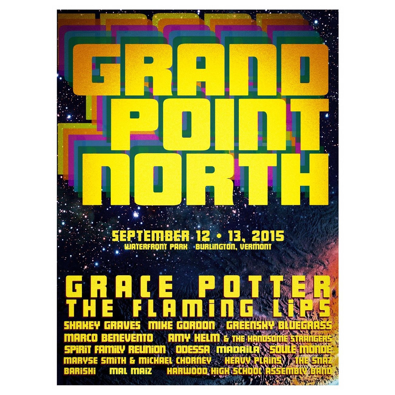 Grand Point North 2015 Moon Poster