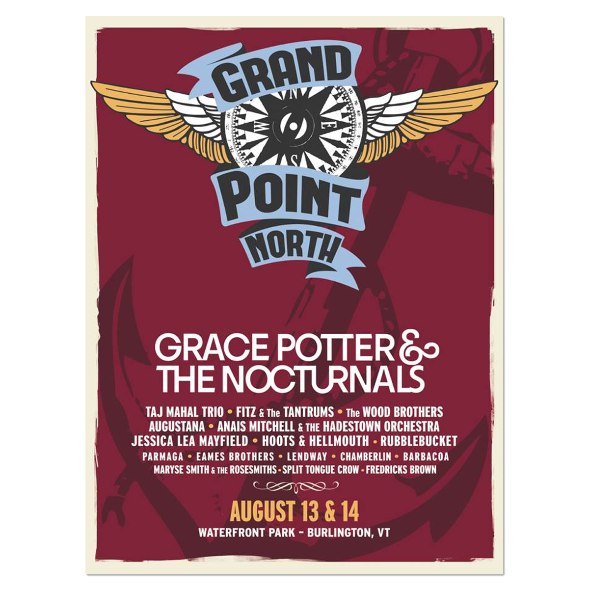 Signed Grand Point North Anchor Poster