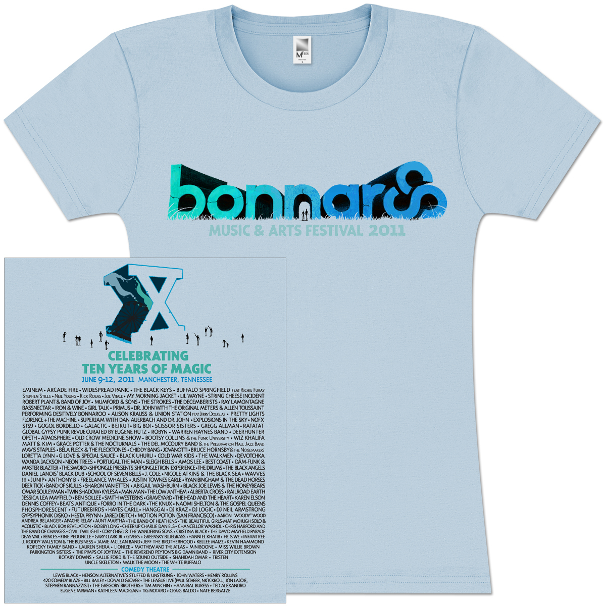 Bonnaroo 2011 Women's Main Event Logo Tee