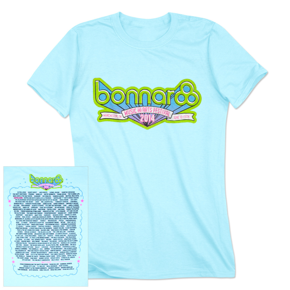 Bonnaroo 2014 Womens Main Event T-Shirt