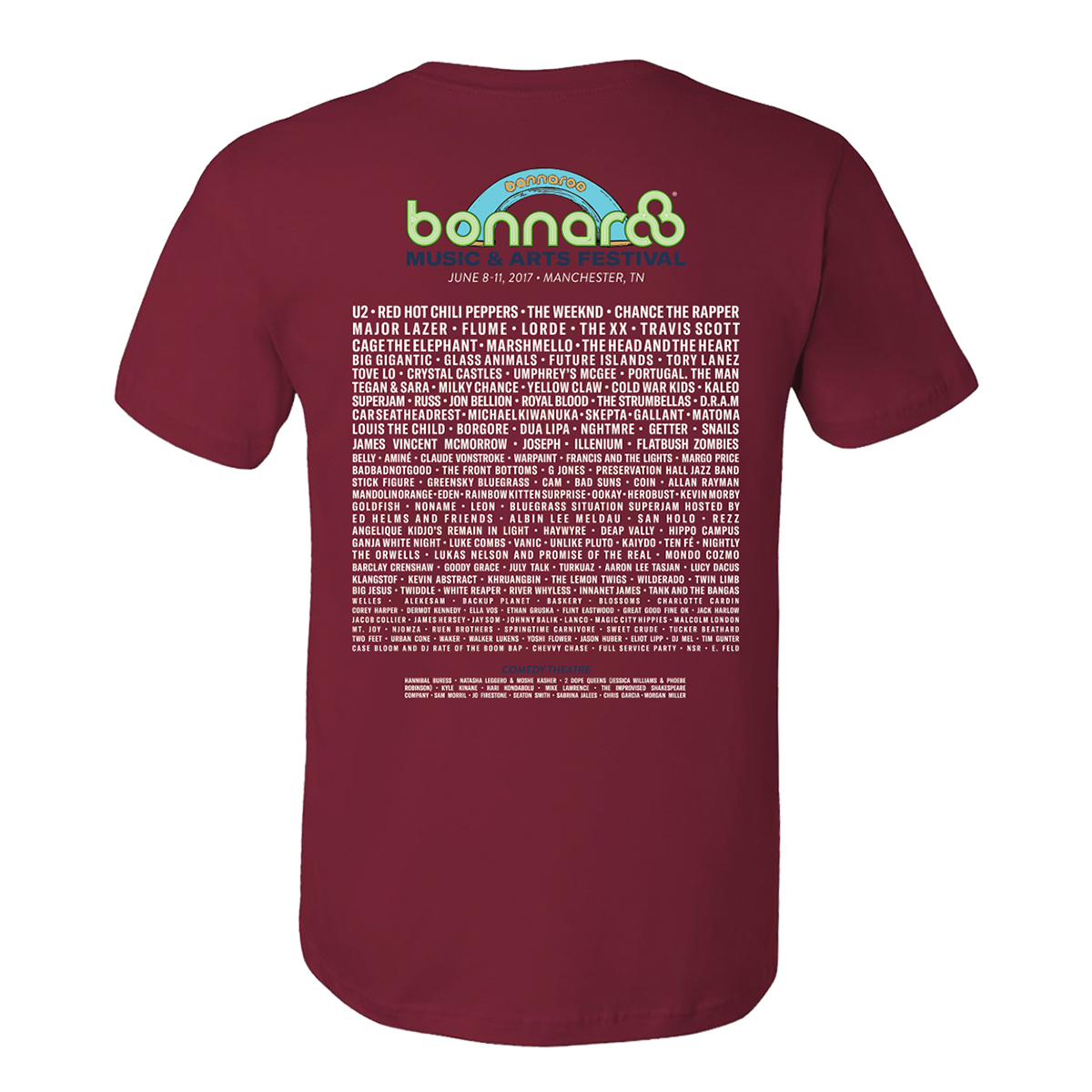 Bonnaroo 2017 Main Event Stacked Tee