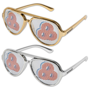 Bonnaroo 2013 Printed Lens Aviator Sunglasses