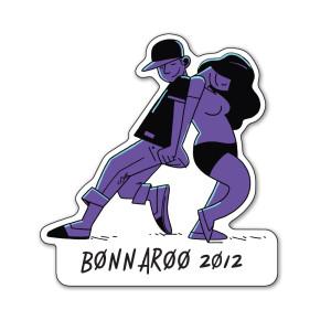 Bonnaroo 2012 Die Cut Logo Magnet