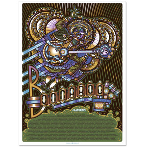 Bonnaroo 2010 Lineup Poster by Guy Burwell