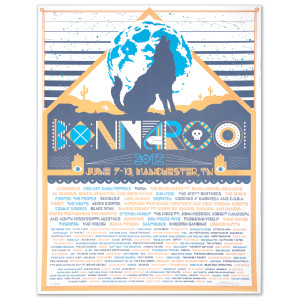 Bonnaroo 2012 Wolf Poster by Burlesque of North America (Signed and Numbered)
