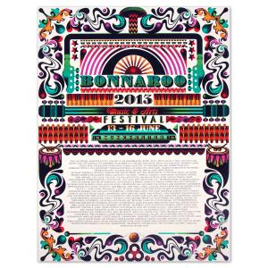 Steven Wilson Bonnaroo 2013 Poster