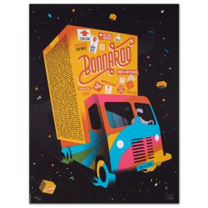2014 Bonnaroo The Funk Truck Poster