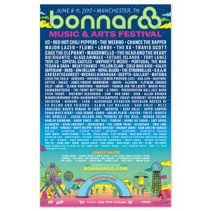 "Bonnaroo 2017 Festival 11"" x 17"" Poster"
