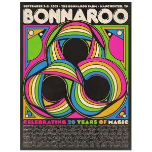 Bonnaroo 2021 Poster by Aaron Lowell Denton