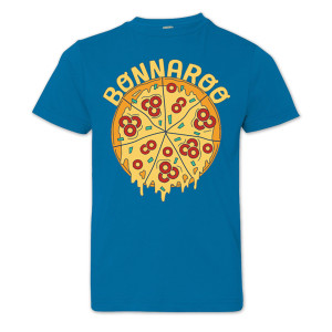 Bonnaroo 2016 Youth Pizza T-Shirt - Cobalt