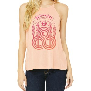 Owl Ladies Flowy High Neck Tank