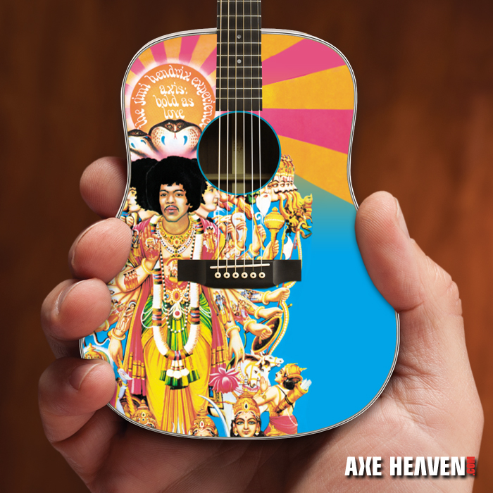 Jimi Hendrix AXIS Bold As Love Mini Acoustic Guitar Model