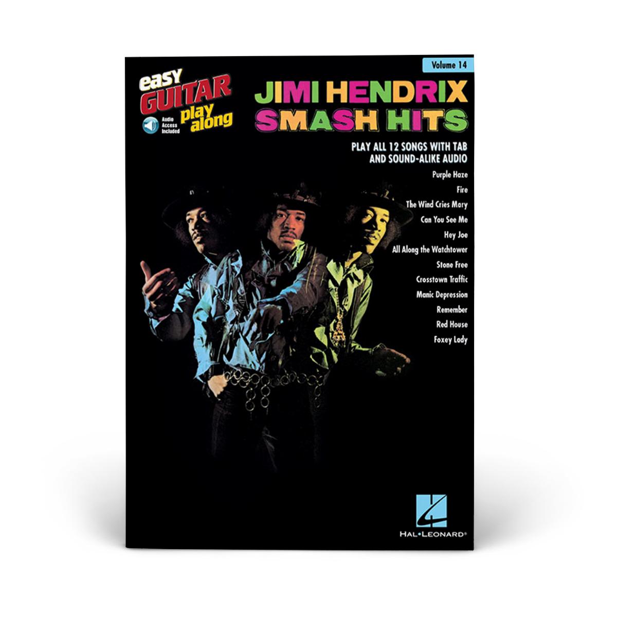 Jimi Hendrix Smash Hits - Easy Guitar Play-Along Volume 14 (Book/Audio)
