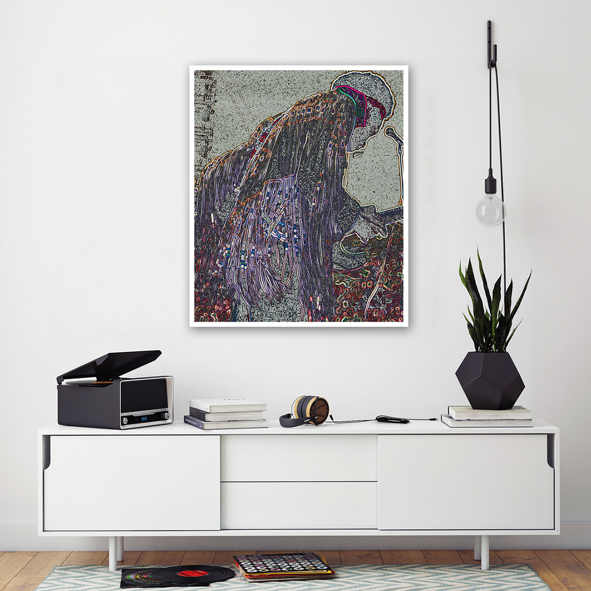 Fringes Canvas Wall Art