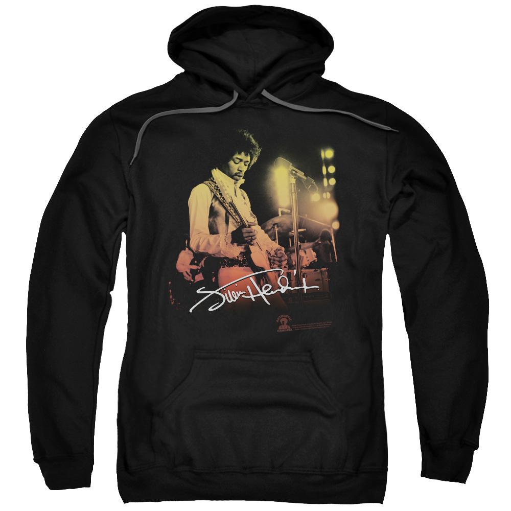 Jimi Hendrix Live On Stage Black Pullover Hoodie