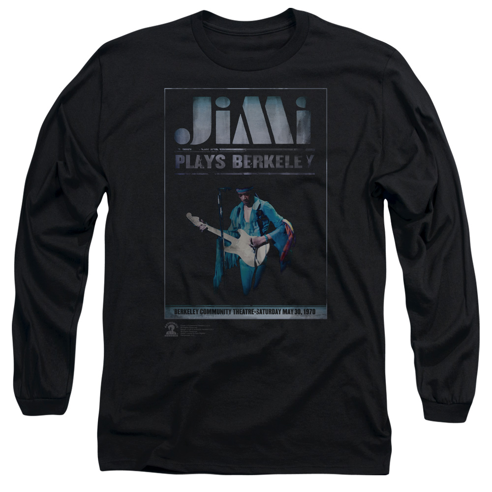 Jimi Hendrix Jimi Plays Poster Long Sleeve T-Shirt