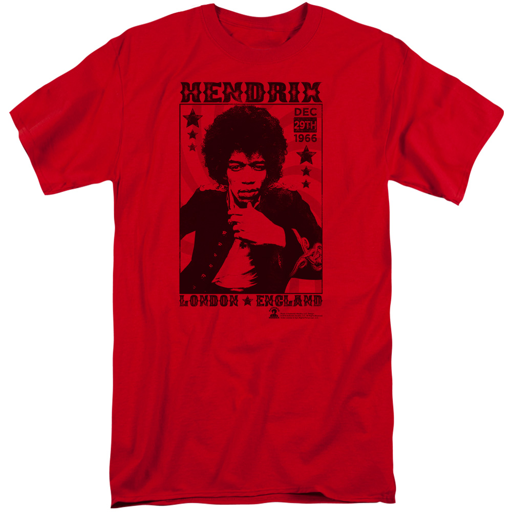 Jimi Hendrix London 1966 Tall T-shirt