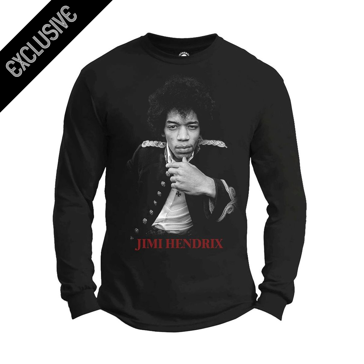 Hendrix Red Photo Type Long Sleeve T-Shirt
