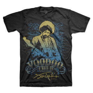 Jimi Hendrix Voodoo Child Blue T-Shirt