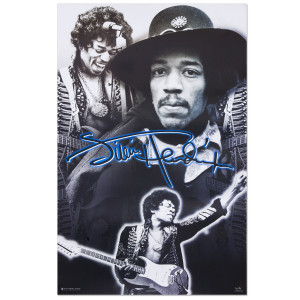 Jimi Hendrix Photo Collage Poster