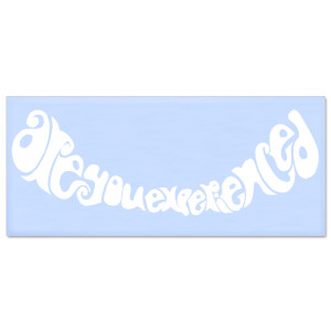 Jimi Hendrix Rub On Are You Experienced Sticker (White)
