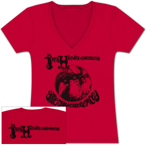"Hendrix ""Are You Experienced?"" Ladies V-Neck T-Shirt"