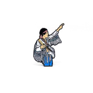 Jimi Hendrix Live at Woodstock Enamel Pin