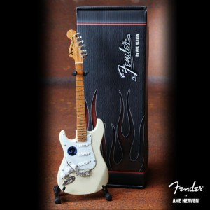 Signature Jimi Hendrix Woodstock Fender™ Strat™ Cream Reverse Headstock Mini Guitar Replica w/Jimi Logo