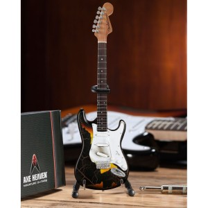 Signature Jimi Hendrix Burnt Fender™ Strat™ Mini Guitar Replica - Officially Licensed