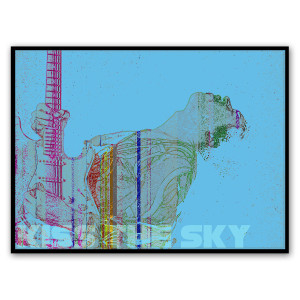Kiss The Sky Canvas Wall Art