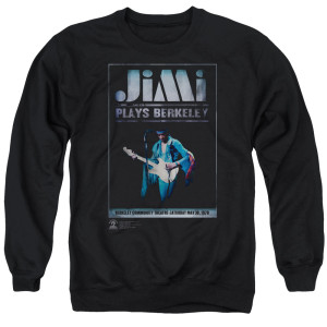 Jimi Hendrix Jimi Plays Poster Crewneck Sweatshirt