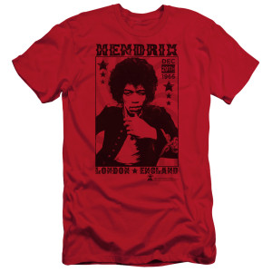 Jimi Hendrix London 1966 Slim Fit T-Shirt