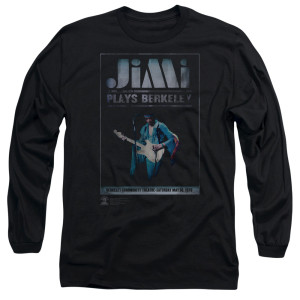 Jimi Hendrix Jimi Plays Poster Long Sleeve T-Shirt
