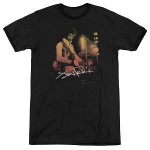Jimi Hendrix Live On Stage Black Ringer T-Shirt