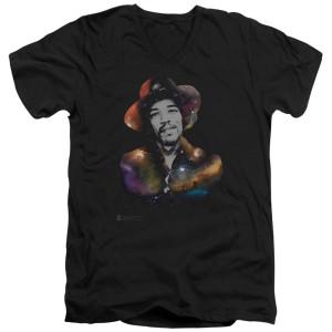 Jimi Hendrix Cosmic Jimi Black V-Neck T-Shirt