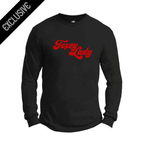 Hendrix Foxey Lady Flocked Logo Long Sleeve T-Shirt