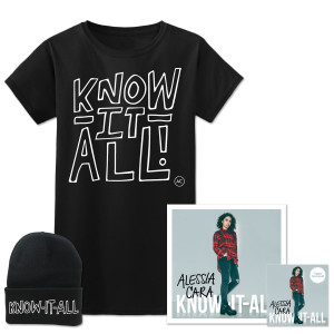 Know-It-All MP3 + Signed Poster + Beanie + T-Shirt