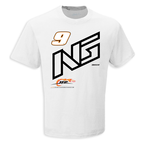 537537c3 #1 NASCAR Noah Gragson White Initial T-shirt | Shop the Shop JR ...