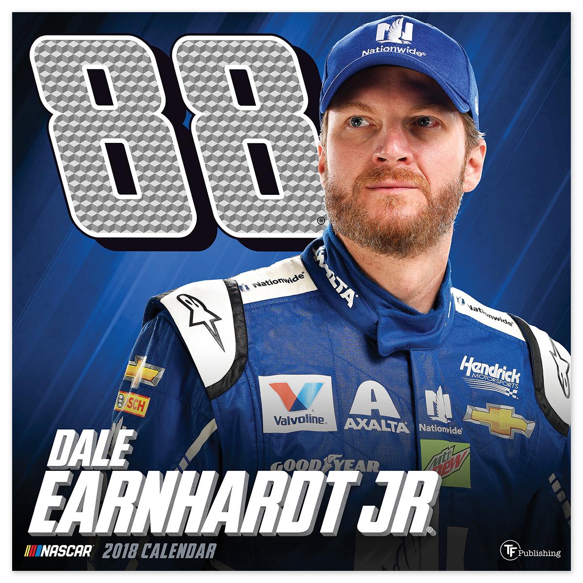 """Dale Earnhardt Jr. #88 2018 12""""x 12"""" Wall Calendar"""