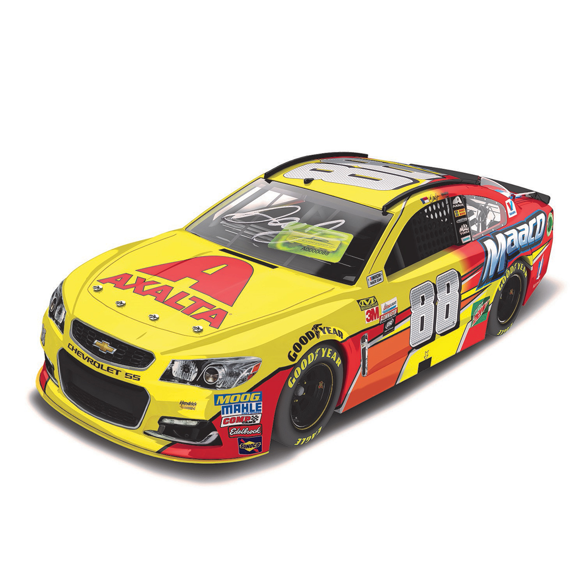 AUTOGRAPHED Dale Earnhardt, Jr. 2017 NASCAR Cup Series No. 88 All-Star Axalta Maaco 1:24 Die-Cast