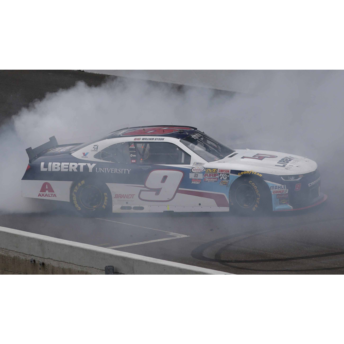 Autographed JR Motorsports 2017 William Byron Xfinity Series INDIANAPOLIS VICTORY 1:24 Scale Die-Cast