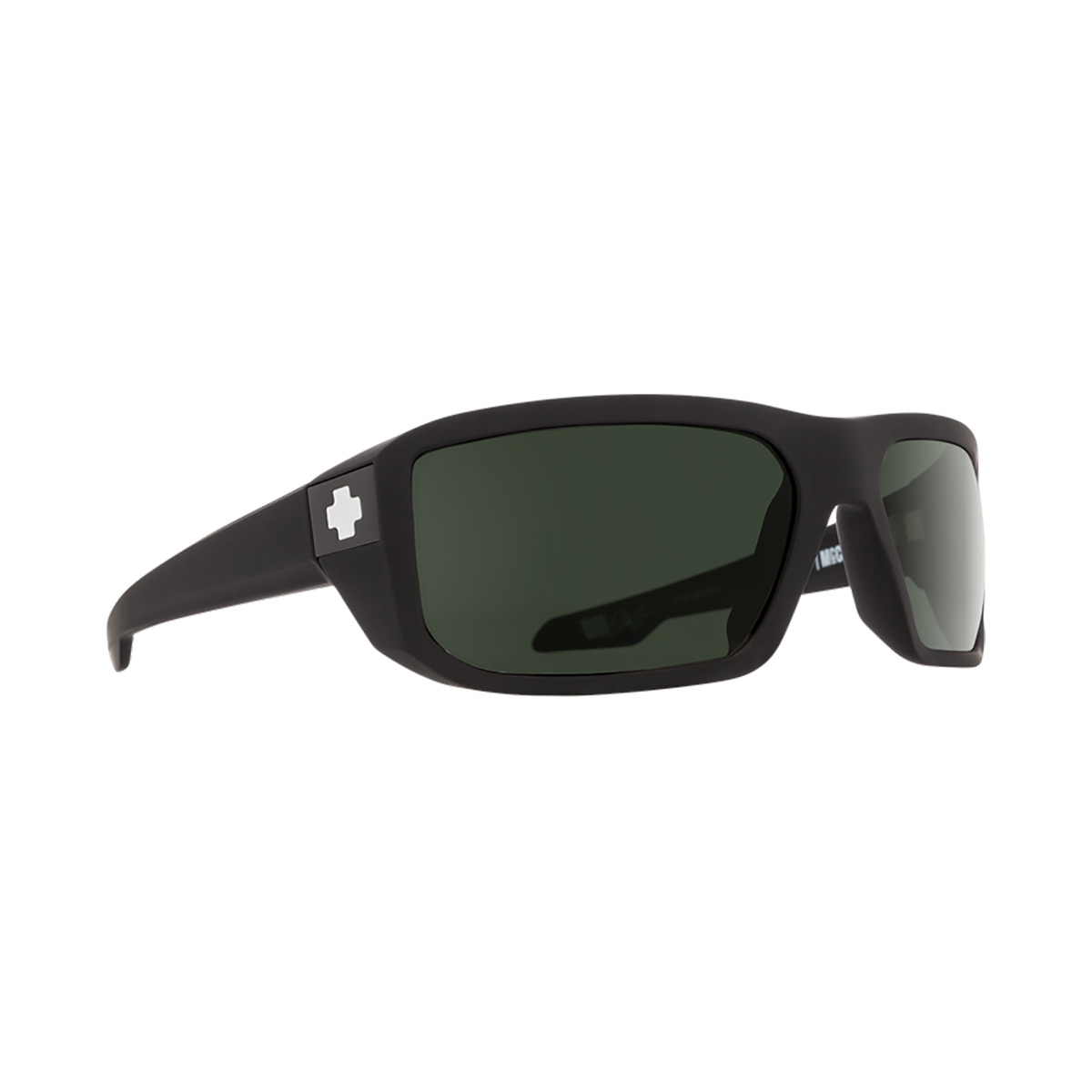 SPY Optic McCoy Soft Matte Black Frame Happy Grey Green Polar Lens