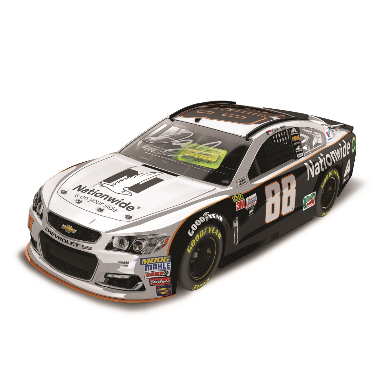 AUTOGRAPHED Dale Earnhardt, Jr. 2017 NASCAR Cup Series No. 88 Nationwide Grey Ghost 1:24 Die-Cast
