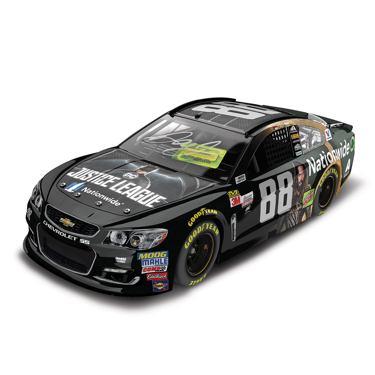 AUTOGRAPHED Dale Earnhardt, Jr. 2017 NASCAR Cup Series No. 88 Nationwide Justice League 1:24 Die-Cast