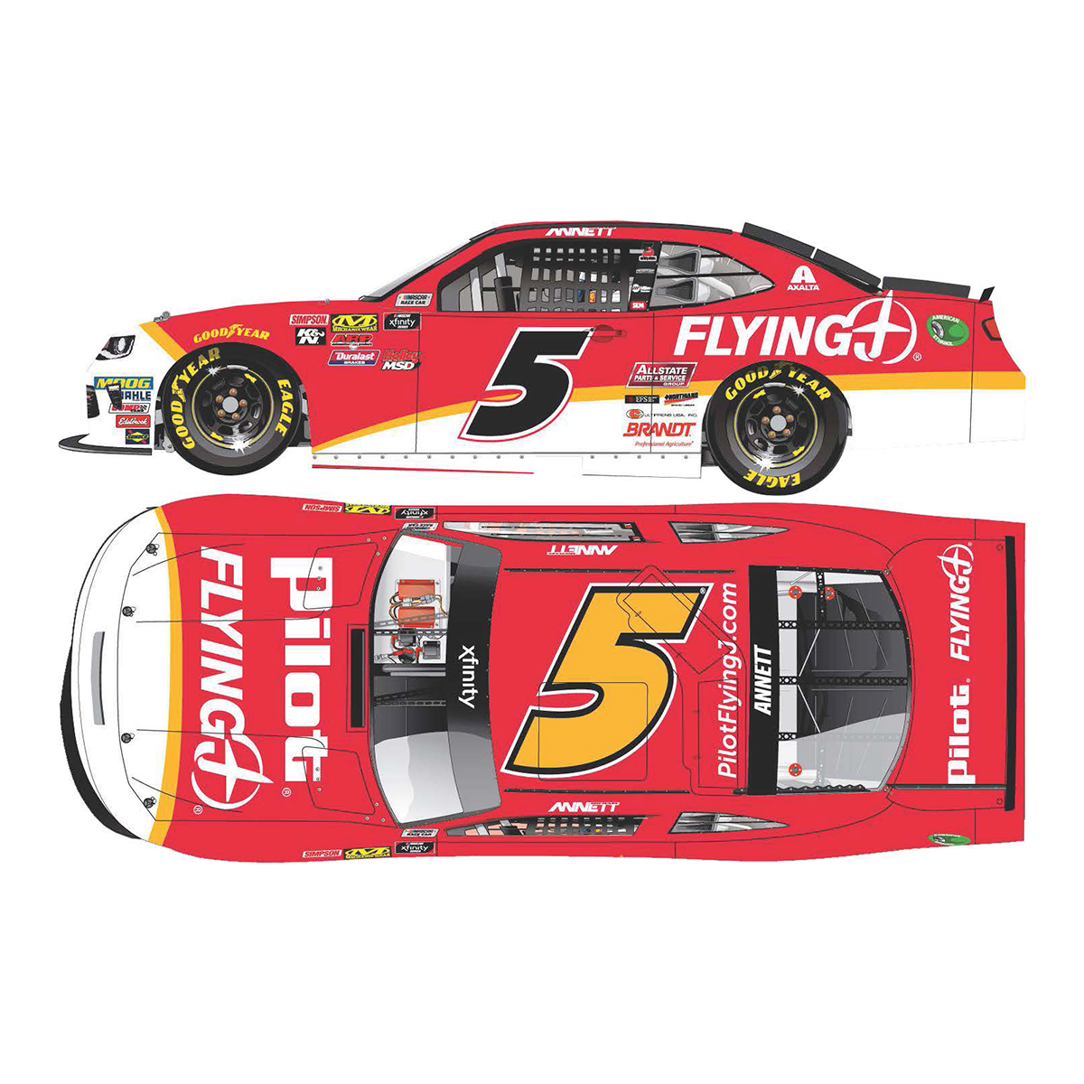 Michael Annett 2018 NASCAR Xfinity Series No. 5 Pilot Flying J HO 1:64 Die-Cast